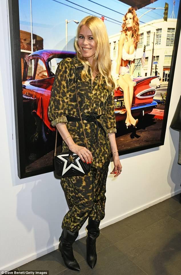 Claudia Schiffer 47 Wears Wild Leopard Print Jumpsuit In London Leopard Print Jumpsuit Fashion Leopard Print