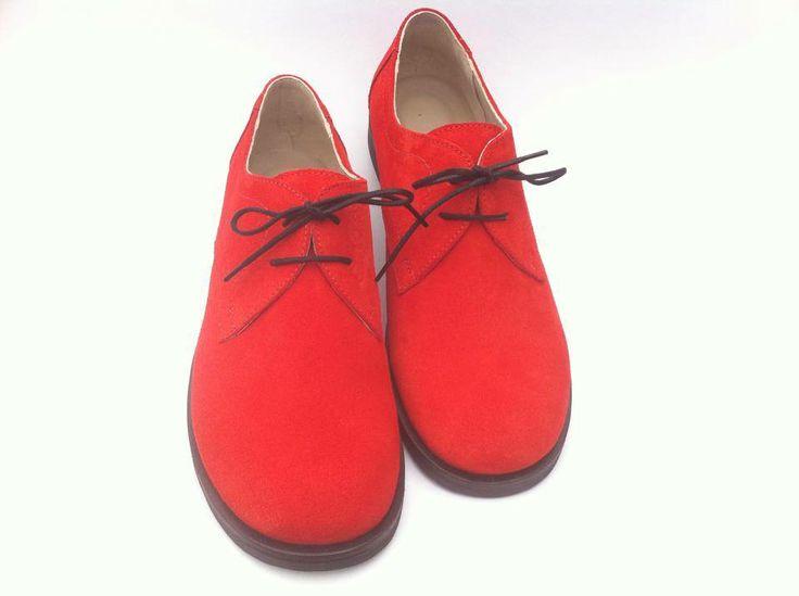 Women suede shoes.