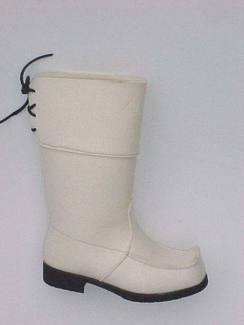 Natural white wool felt lappshoe
