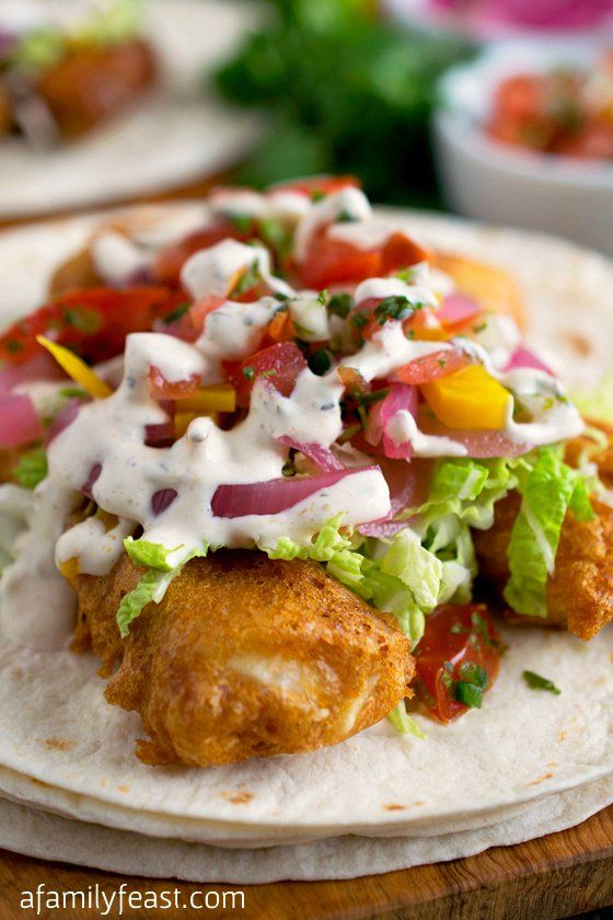 Fish tacos recipe crispy fish batter fish batter and fish for Fish taco batter