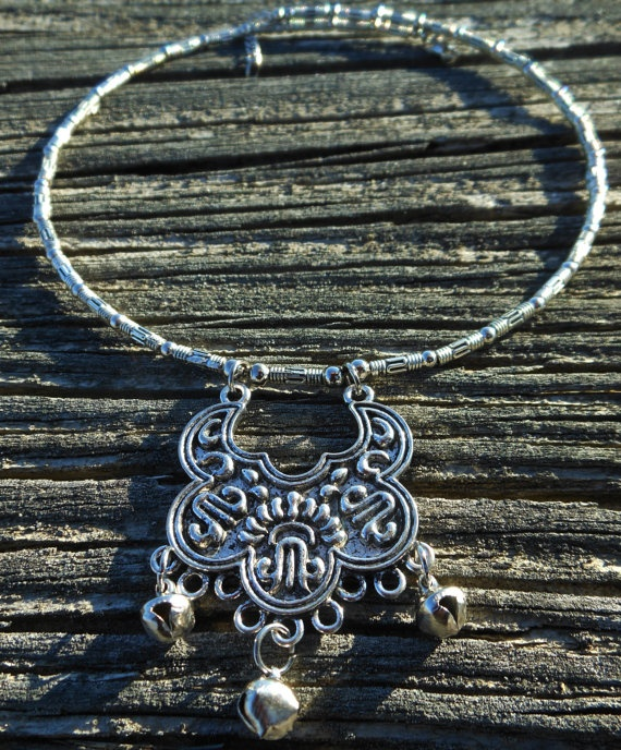 Hmong Tribal Silver Choker Necklace HOLIDAY SALE by CultureCross, $15.00