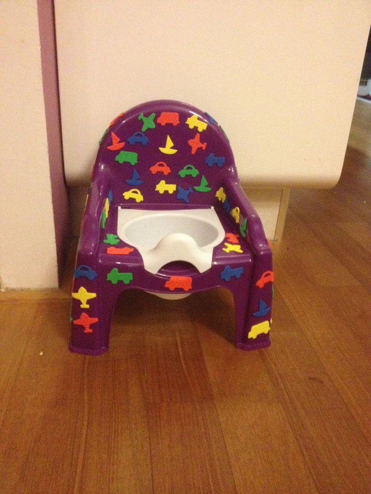 Potty with stickers