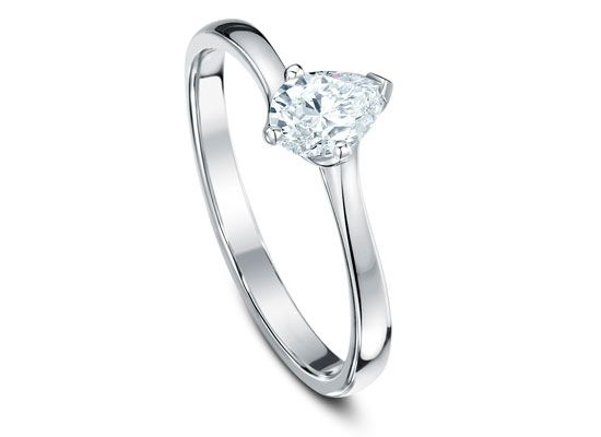 Traditional  Wedding Clifton Bristol Cirencester Engagement ring Diamond solitaire  Pear  Four claw twist