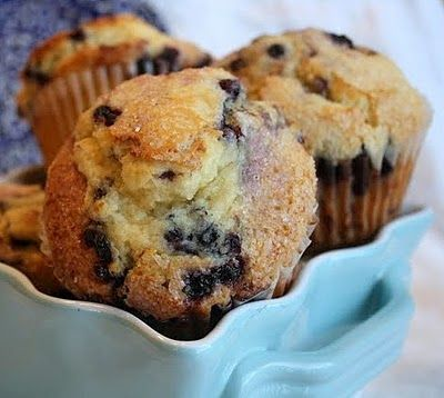 Jumbo blueberry muffins!  Love finding recipes for my jumbo muffin pan!