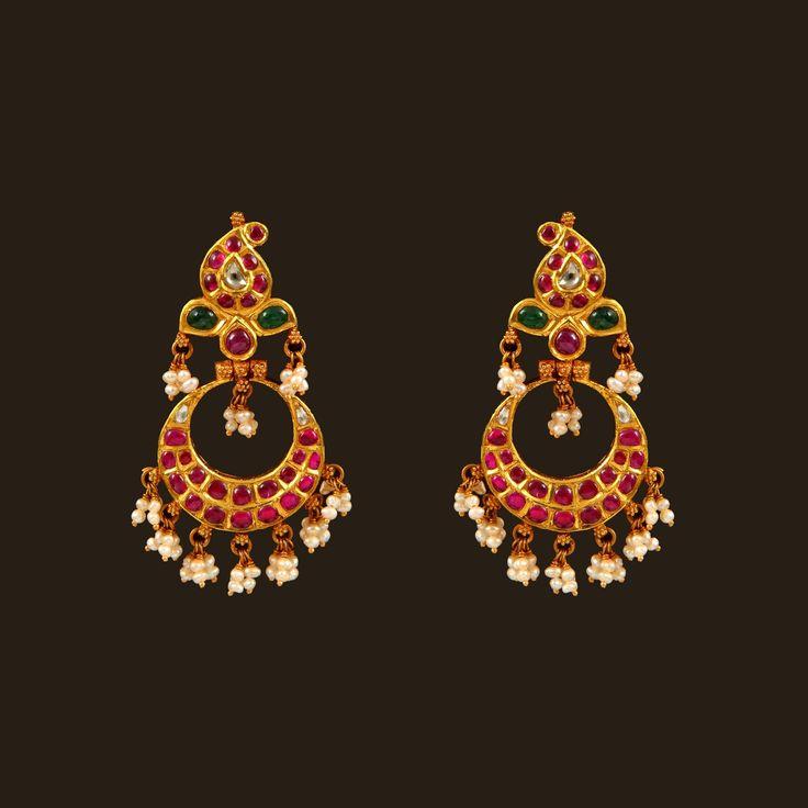 Gold Chand Bali (108A38166) | Vummidi Bangaru Jewellers