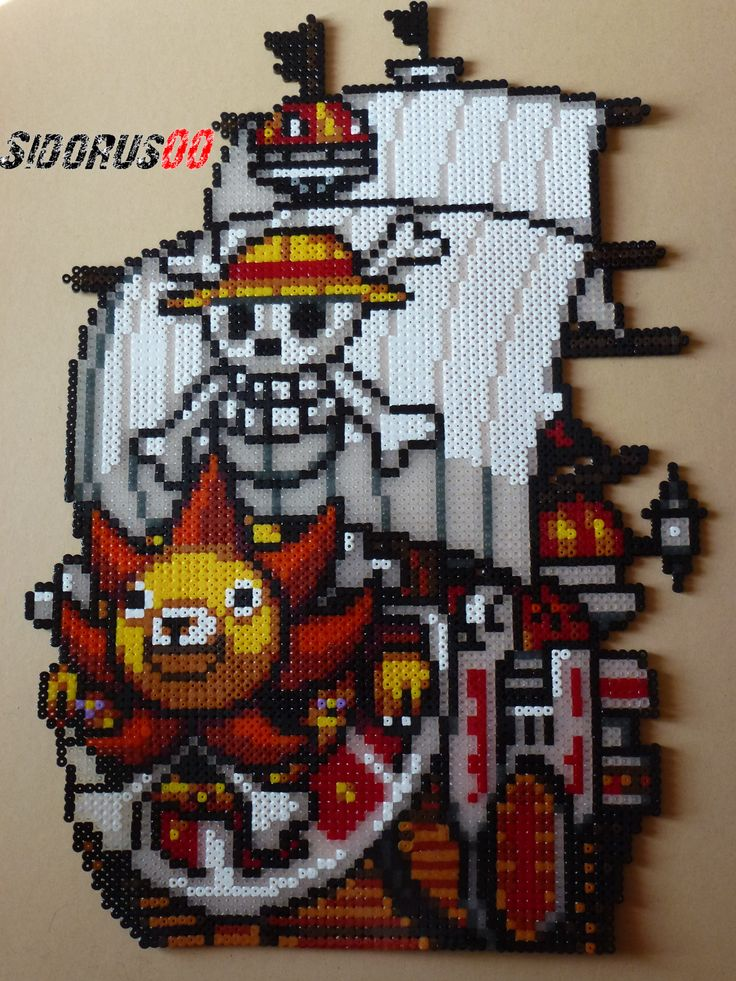 One Piece - Sunny Go hama perler beads by Sidorus00