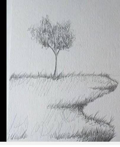 Paso 4 Para Aprender A Dibujar Paisajes A Lapiz Sketchbook Inspiration Drawings Sketch Book