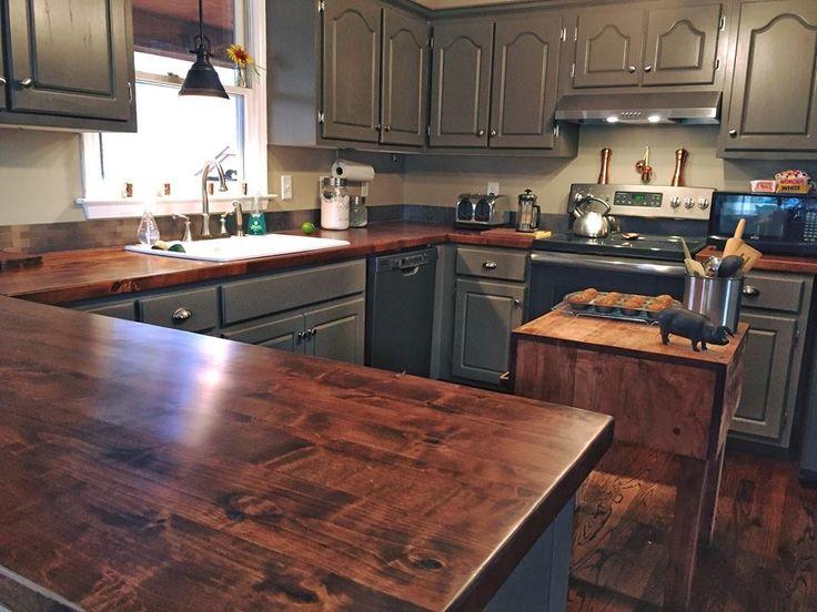 Old Kitchen Reno Rustoleum Cabinet Transformation Bayleaf