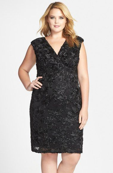 T12 $84 Marina Soutache Embroidered Lace Dress (Plus Size) available at #Nordstrom
