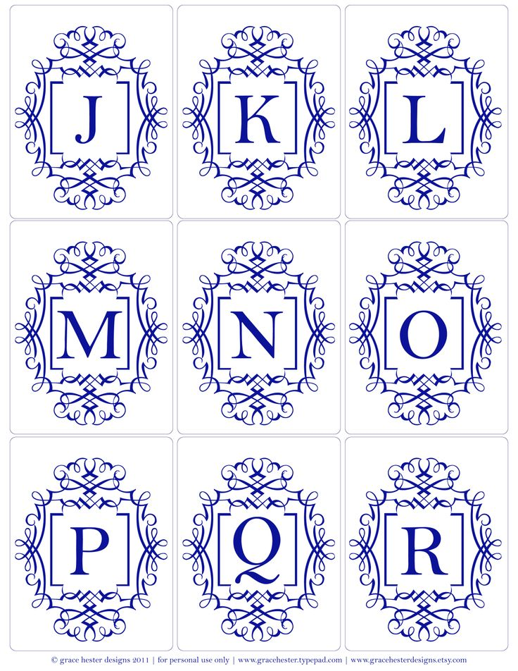 Monograms J-R