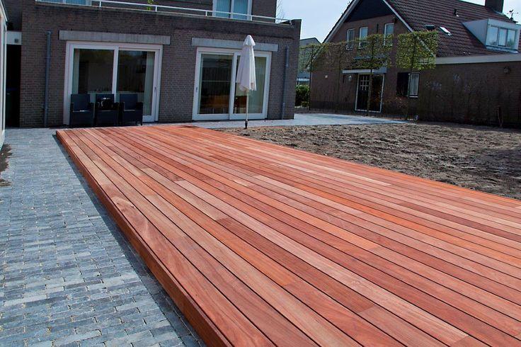 Padouk terrace houten terras pinterest grey terrace and lights - Terras hout ...