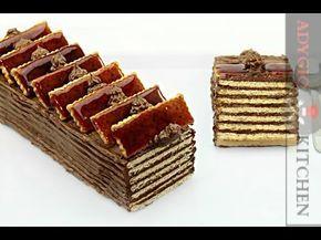Tort dobos cu biscuiti fara coacere - Adygio Kitchen - YouTube