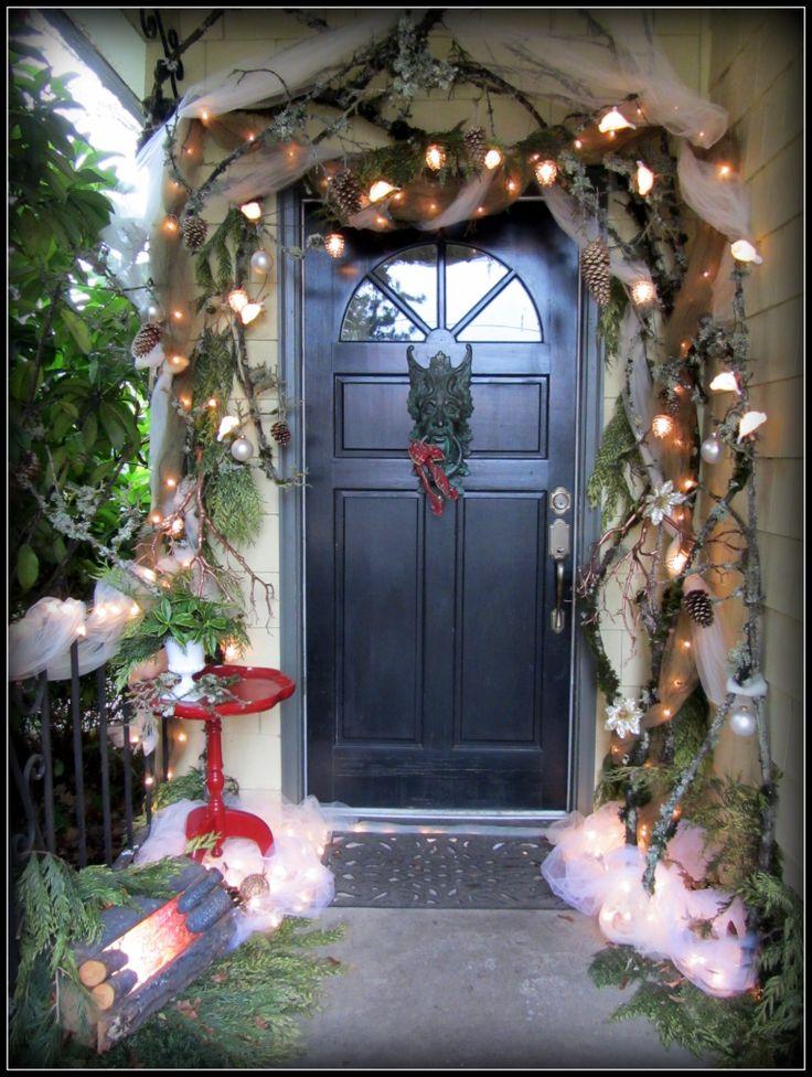 Christmas door at Talismana Designs. Winter Solstice, Yule decor.