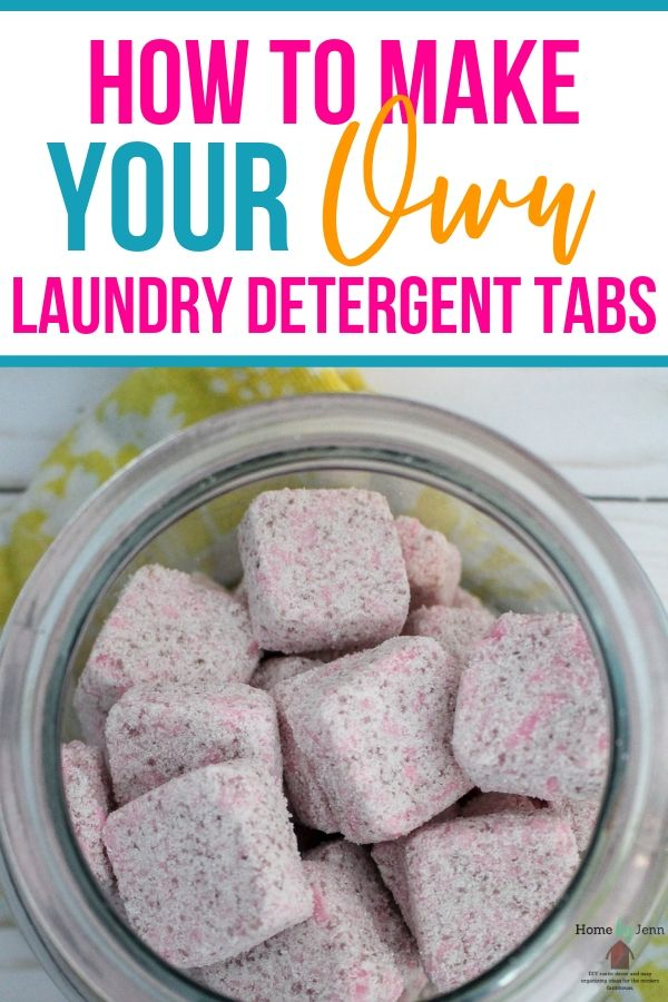 How To Make Your Own Diy Laundry Detergent Tabs Home By Jenn