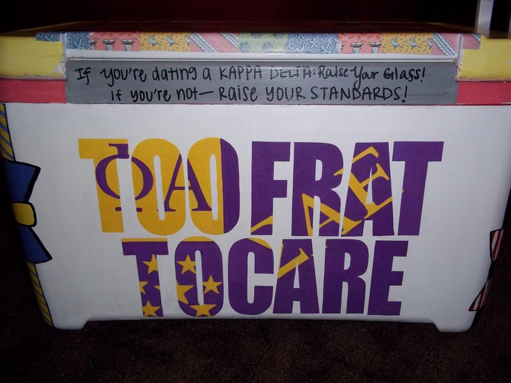 cooler for boyfriends birthday. Sigma Alpha Epsilon Flag. Too frat to care haha cooler painting   SAE TFM TSM tutorial ideas