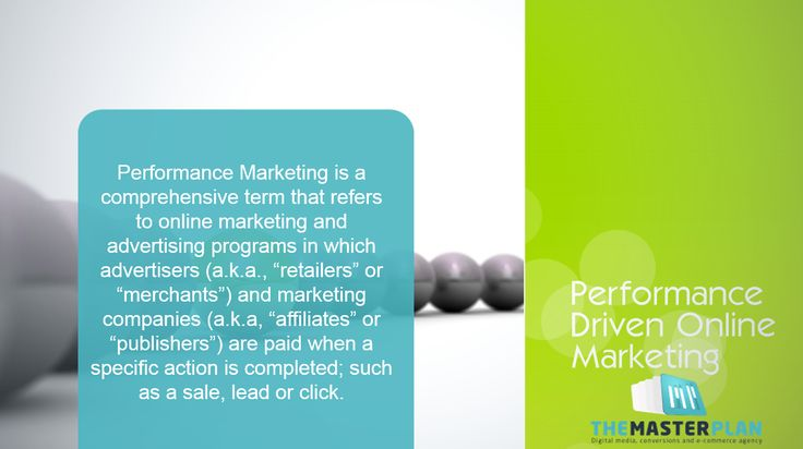 Performance #Marketing!