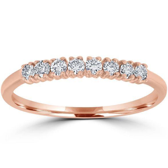 Pompeii3 Diamond Wedding Ring 14k Rose Gold 14k Wedding Rings Women Rings Diamond Wedding Rings