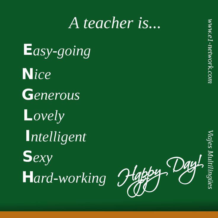 ¡¡Feliz Día del Profesor!!  #diadelprofesor #profesor #teacher #teachersday #english #happyday