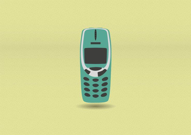 90s cult pieces - Nokia 3310   #illustration #graphicdesign #MAdesigner #self #pieces #cult #90's