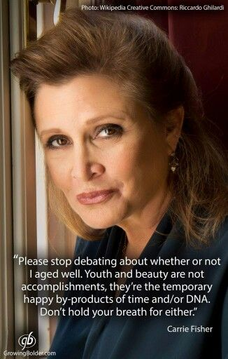 Carrie Fisher, once and always Princess Leia not just for girls but for everybody.