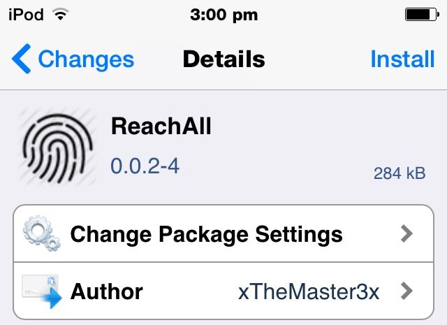 ReachAll Cydia Tweak Brings Reachability Feature To Every iOS 8 Compatible Device http://jailbreakcentric.com/reachall-cydia-tweak/ #iOS #iOS8 #Apple #Jailbreak #Cydia #iPhone #iPodtouch #iPad #iPhone5s #iPhone5 #iPhone4s #iPhone4