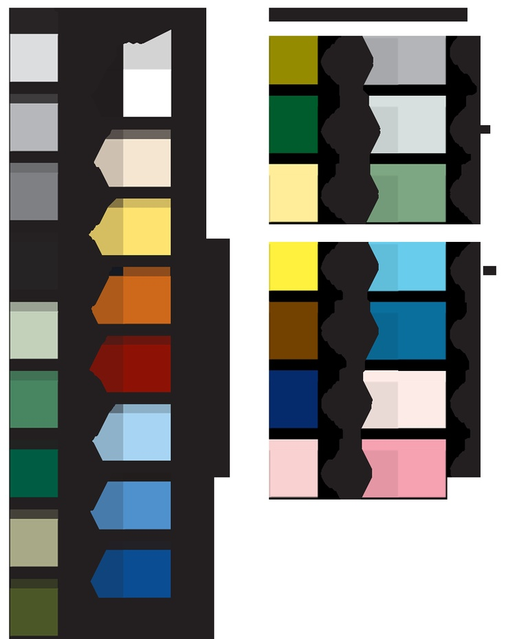 Historic Tile Colors. All colors are for unglazed historical tiles.