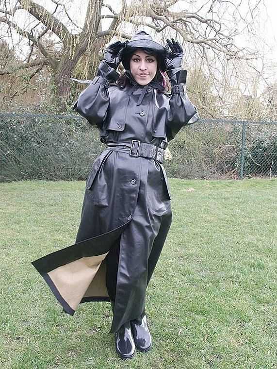 Black Rubber Raincoat & Hat | Things to Wear