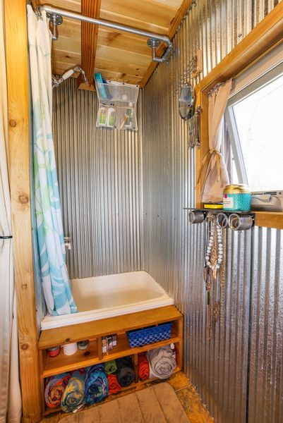Start with these 5 Alternative Shower Ideas to create your own DIY shower for your Tiny House RV