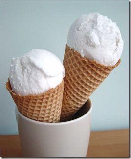 coconut icecream with malibu!