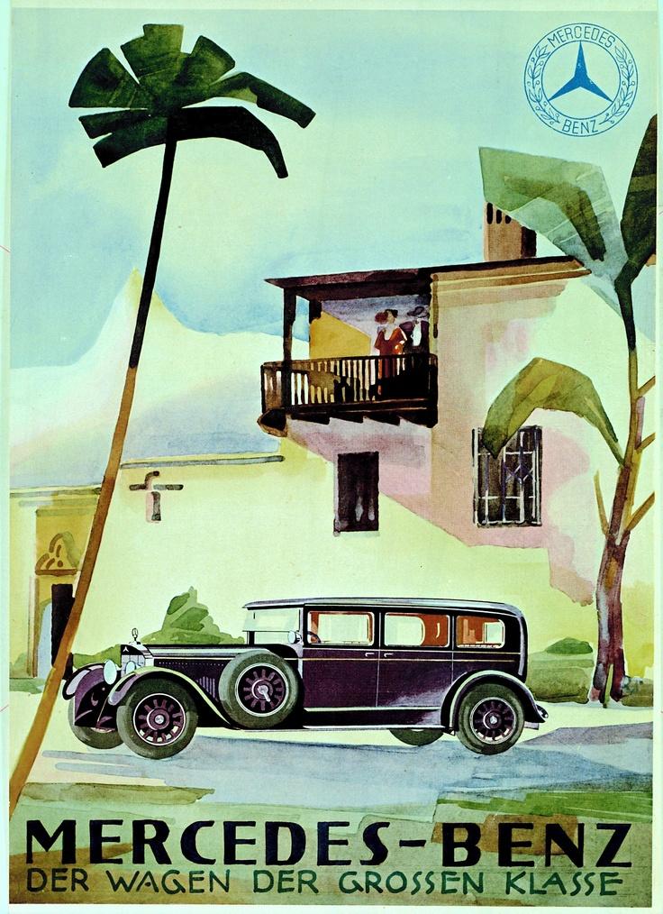 17 best images about vintage mercedes benz adverts on for Vintage mercedes benz posters