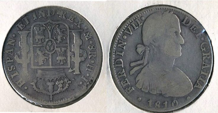 1810 Mexico 8 Reales Coin