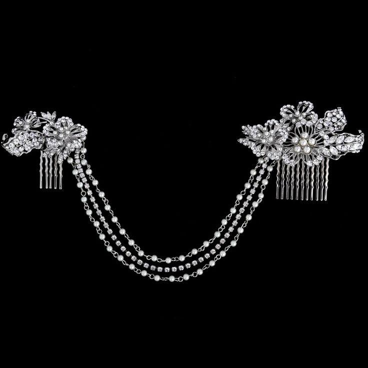 Vintage Starlet Crystal & Pearl Headband