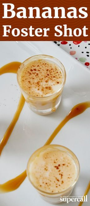 Inspired by the New Orleans classic, bananas foster, this golden, Mardi Gras-ready shooter combines gold rum with banana liqueur and RumChata for a touch of cinnamon and vanilla.