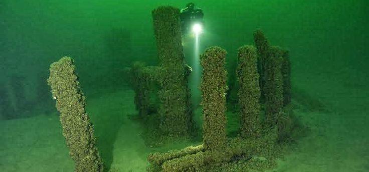 Una struttura di Stonehenge è stato scoperto sotto il lago Michigan