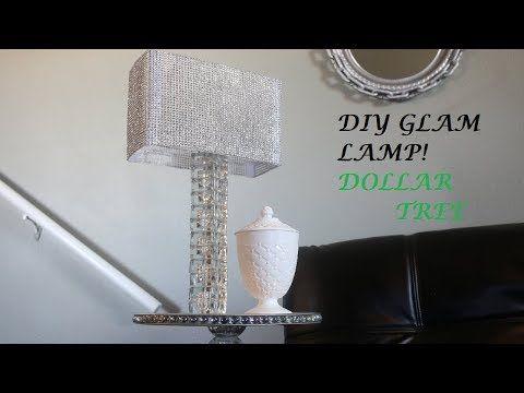 Diy glam lamp dollar tree youtube
