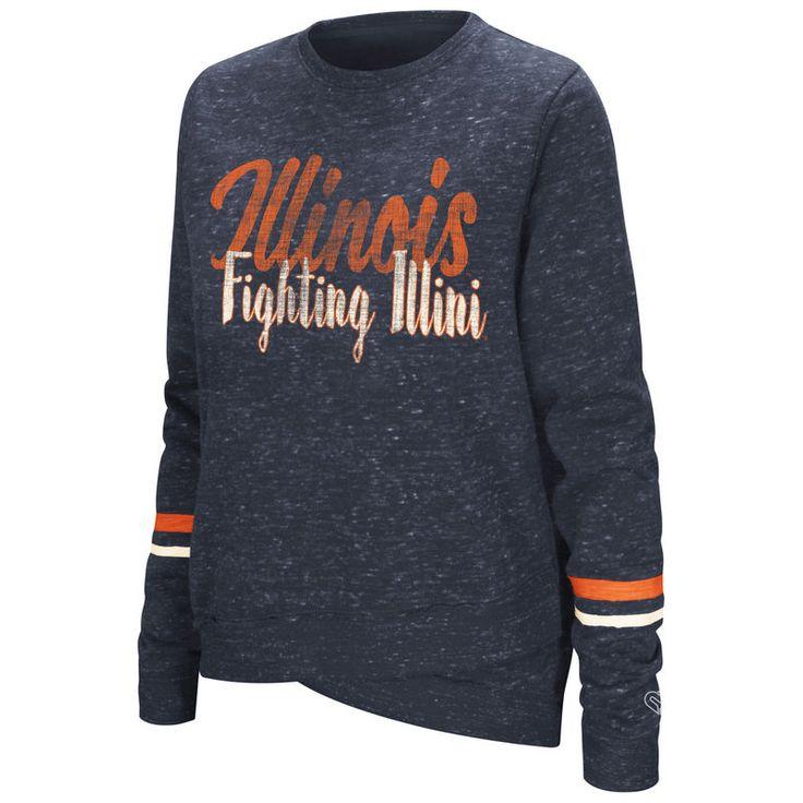 Illinois Fighting Illini Colosseum Women's Birdie Pullover Sweatshirt - Navy