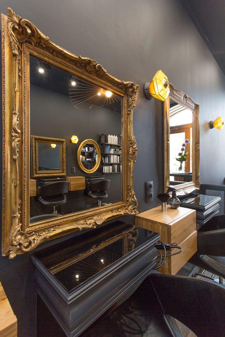148 best Hair Salon Mirror Ideas images on Pinterest