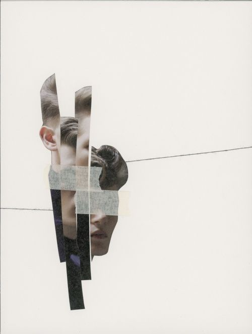 broken/fragmented portrait - unknown artist