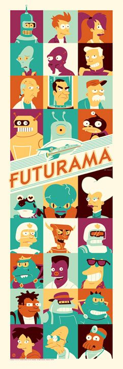 San Diego Comic-Con 2013 Exclusive Futurama Standard Edition Screen Print by Dave Perillo