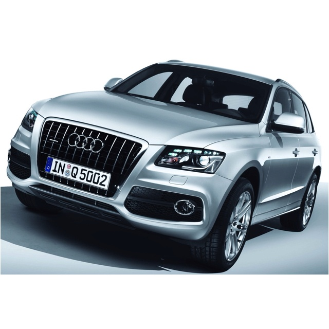 2012 Audi Q5. Midnight blue exterior, beige leather interior.