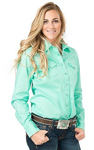 Cinch Women's Turquoise Long Sleeve Western Snap Shirt | Cavender's