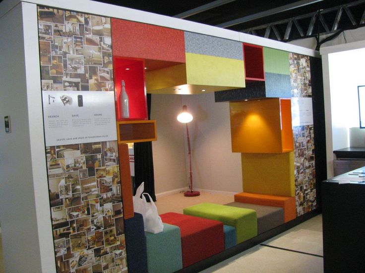 The Space Module featuring Formica 100 Year Anniversary Collection laminate and fabrics by Warwick Fabrics — at Ellerslie International Flower Show.