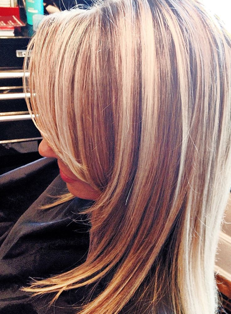 Photos Of Blonde Hair With High And Low Lights High And