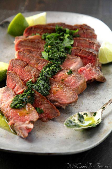 Pan-Seared Ribeye with Chimichurri Sauce | get in my tummy. | Pintere ...