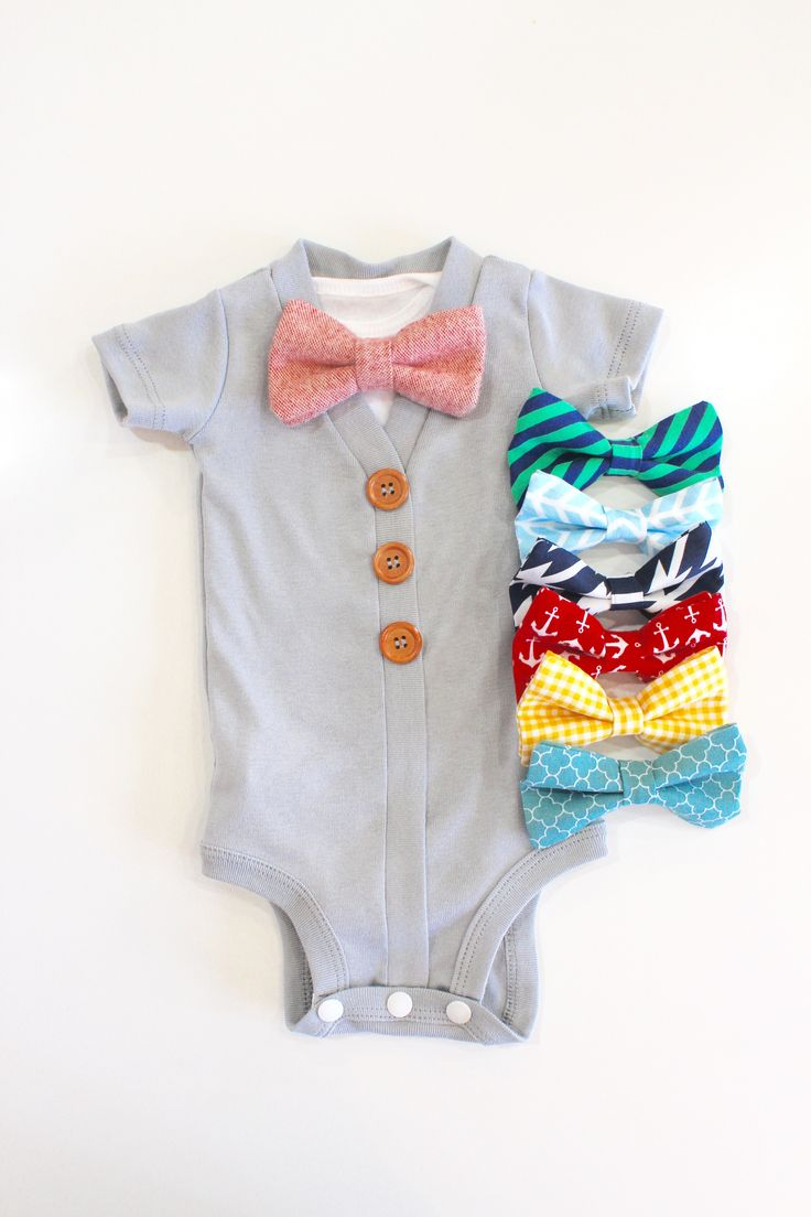 So cute! Baby boy take home outfit. Cardigan Onesie with bowties