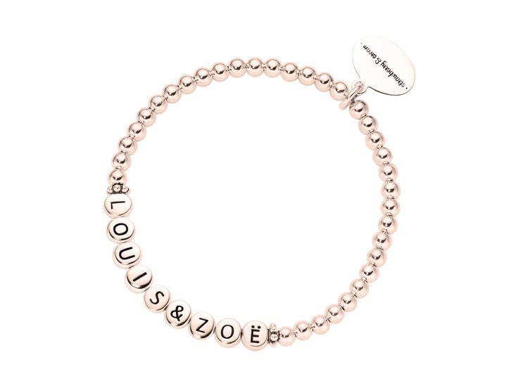 ladies rosegolden silver letter bracelet 1