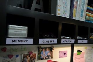 labeled cubbies.  Need to label!