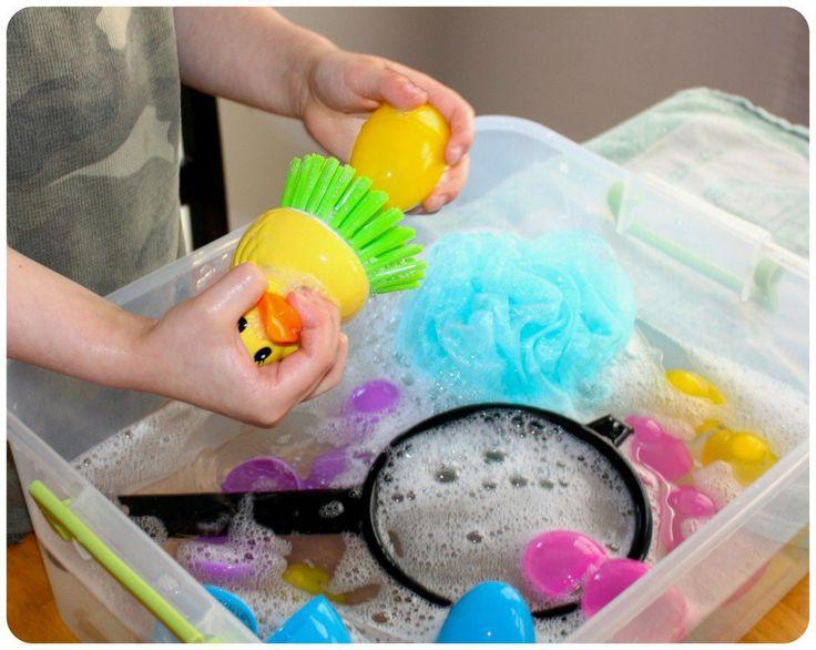 Easter Egg Washing Duck Scrubber