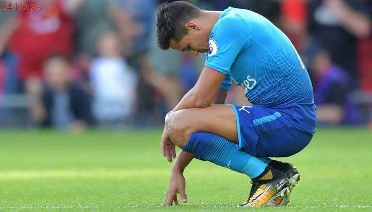 [FOTO] El pesar de Alexis Sánchez tras goleada recibida por Arsenal ante Liverpool