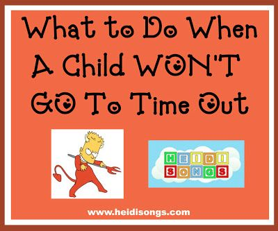 What to Do When A Child Won't Go To Time Out | Heidi Songs